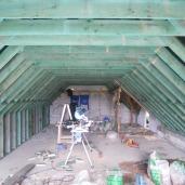 Nieuwe dakconstructie