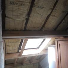 Verstevigende constructie maken onder het bestaande gebind - nieuwe dakconstructie voor afwerking met gyproc nadien