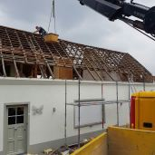 Afbraak oude dakconstructie